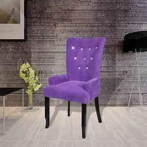 Chaise Velours Capitonnée : acheter chaise capitonn e velours violet 54 x 56 x 106 cm pas cher ~ Teatrodelosmanantiales.com Idées de Décoration