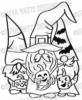 Svg Halloween Gnome Witch Coloring Layered Gnomies Crew Printable Gnomes Fall Candy Bats Stencil Stencils Corn Cricut sketch template