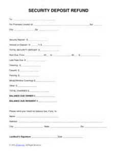 sample letter to tenant keeping security deposit