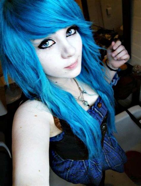 emo girl    pretty   looked