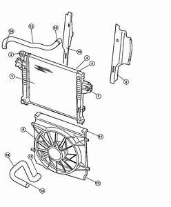 2002 Jeep Liberty Fan Module  Radiator Cooling  Air