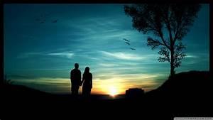 Download Romantic Sunset Wallpaper 1920x1080 | Wallpoper ...