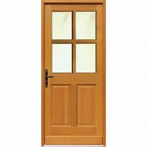 porte d39entree en bois laenec 215 x 090 m vitree With portes d entrée en bois