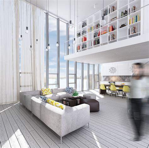 Wondrous White Three Lofts With Clean, Bright Interiors