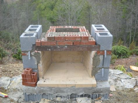 building an outdoor fireplace stoneblog living masonry