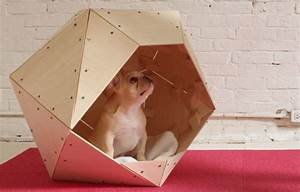 cool geometric diy doghouse ideas With diy indoor dog house
