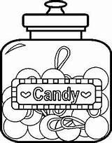 Candy Coloring Pages sketch template