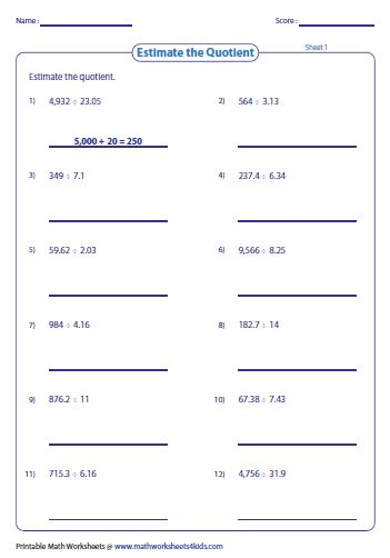 rounding fractions worksheets fractions and decimals