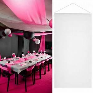 Decoration Salle Mariage Pas Cher : tenture salle mariage pas cher 12m tre blanche d co de salle ~ Teatrodelosmanantiales.com Idées de Décoration