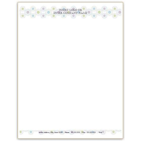 personal letterhead templates word  printable