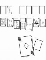 Solitaire Template Coloring Handipoints sketch template