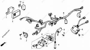 Honda Motorcycle 1989 Oem Parts Diagram For Wire Harness