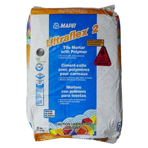 ultraflex 2 mortar ultraflex 2 professional polymer white 50lbs sale tile stone source
