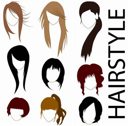 Vector Hairstyles Clipart Graphics Hairstyle Clip Graphic