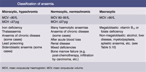 General Characteristics Of Anemia