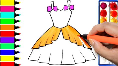 How To Draw Barbie Dress