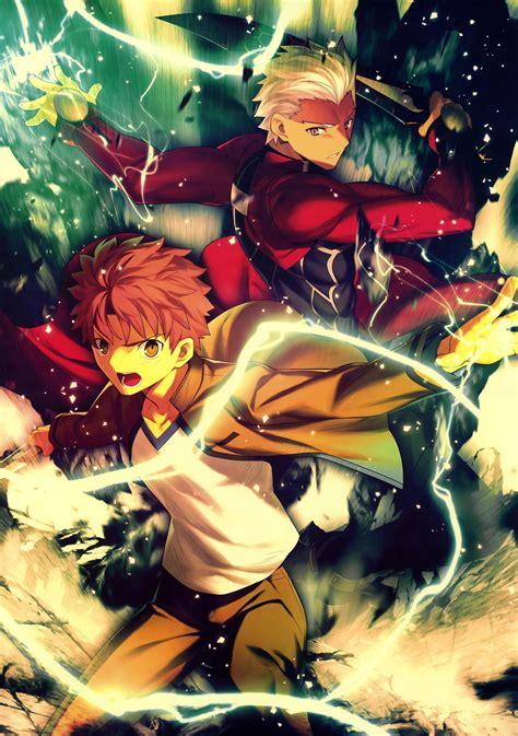 wallpaper illustration anime fate series archer fate