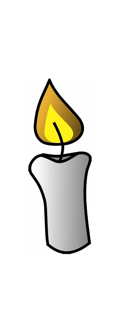 Candle Clip Clipart Vela Vector Cliparts Flame