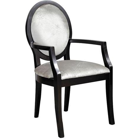 black silver velvet oval back carver contemporary velvet