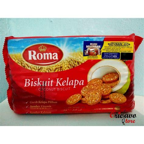 roma biskuit kelapa 300 gr shopee indonesia