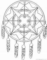 Coloring Native American Dreamcatcher Pages Indian Books Sheets Americans Printable sketch template