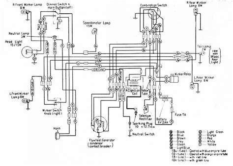 1991 Honda Accord Brake Light Wiring Diagram by Honda C100 Wiring Issue Moped Army