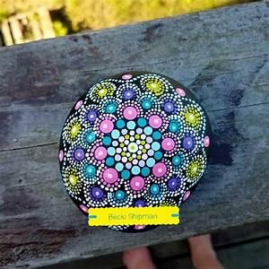 Original, Handmade, Acrylic, Painted, Rock, Mandala, Special