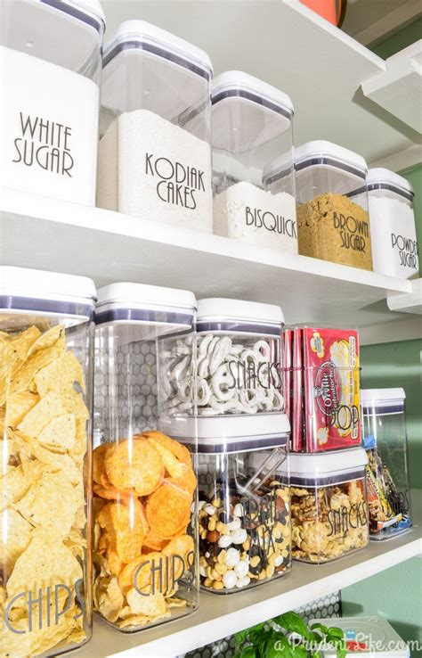 kitchen pantry storage containers organized pantry reveal one room challenge polished 5493