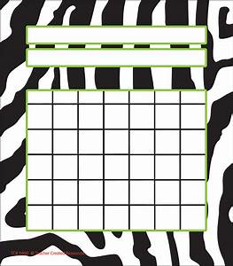 Free Attendance Charts To Print Zebra Incentive Charts Tcr5400 Teacher Created Resources