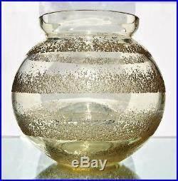 Gros Vase En Verre : daum nancy gros vase boule en verre pais fum grav l acide art d co sign art deco vase ~ Melissatoandfro.com Idées de Décoration