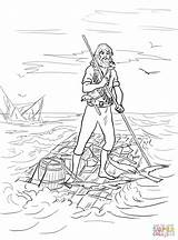 Raft Robinson Crusoe Coloring Pages Shipwrecked Drawing Printable Crafts Supercoloring Camping Cartoon Sketch Getdrawings Animals Colouring Visit Template Characters Divyajanani sketch template
