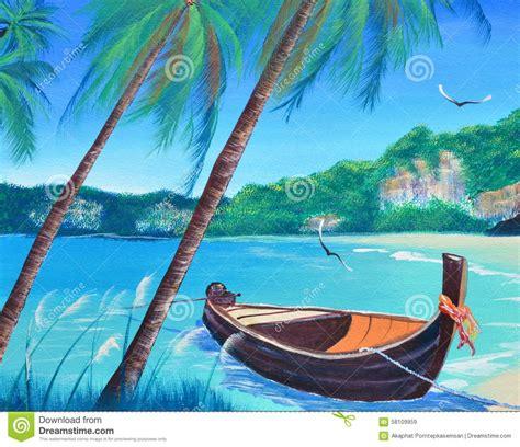 Boat On Beach Drawing by Bateau De Rang 233 E Sur La Peinture 224 L Huile De Plage Sur La