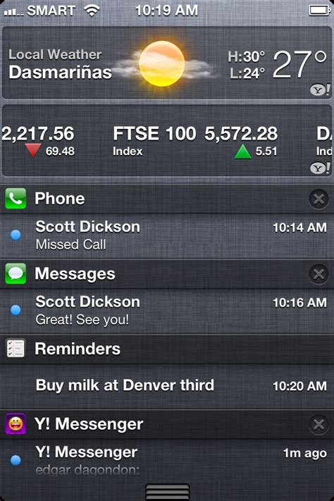 notification center iphone how to customize notification center in iphone 4s iphone