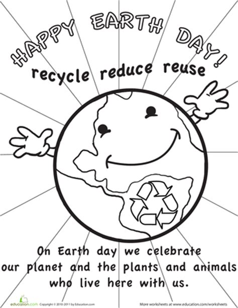 recycle reuse learn 9 earth day printables education 174 | file 121301 350x440