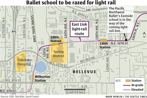 Light Rail Bellevue by Bellevue Ballet School In Way Of Light Rail Fight