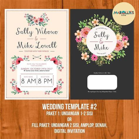 jual design wedding invitation desain undangan pernikahan