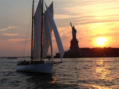 Living On A Boat In New York City by 5 Places To Sail Into The Sunset In New York City