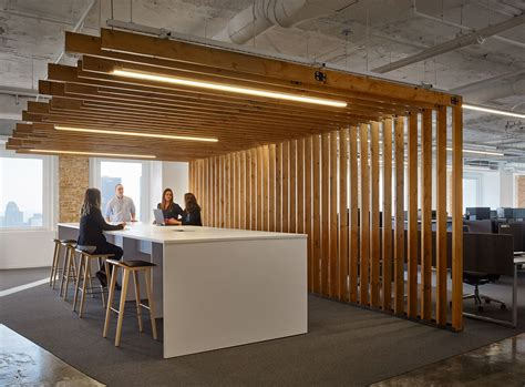 office  textura offices chicago wood slats chicago  spaces