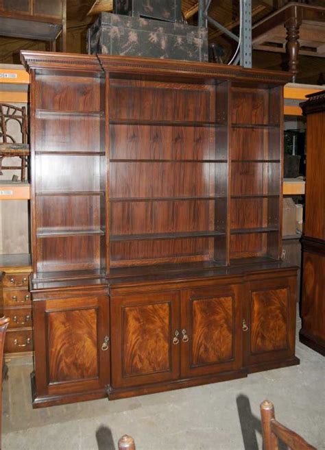 Bookcases With Cabinets by Xl Breakfront Open Bookcase Cabinet Bookcases
