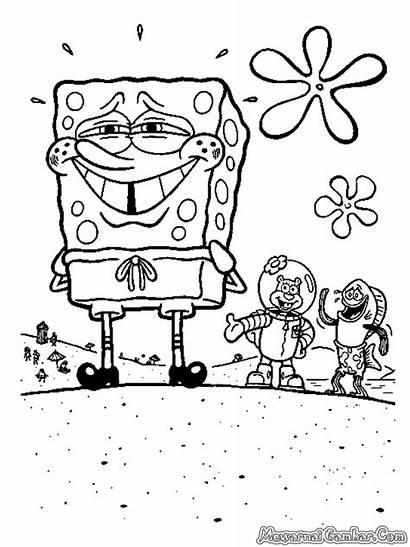 Spongebob Mewarnai Squarepants Gambar Sponge Bob Tweet