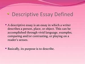 Definition of descriptive essay meaning descriptive essay simple