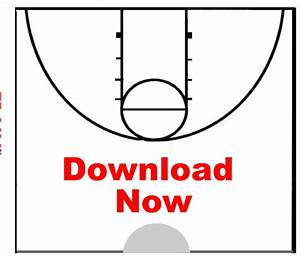 Blank Basketball Coach Diagram