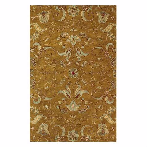 Rug Gold by Home Decorators Collection Watercolor Gold 8 Ft X 11 Ft