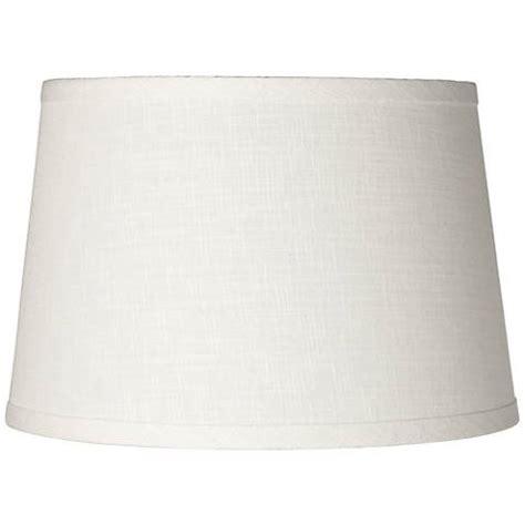 linen drum l shade white linen drum l shade 10x12x8 spider k4850