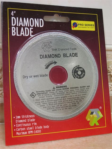 mm  thk diamond cutting blade glass table  disc