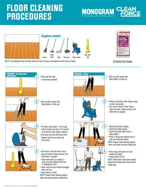 monogram clean force  surface floor cleaner floor cleaning procedures