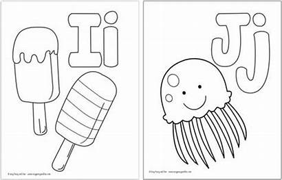Alphabet Coloring Pages Printable Letter Fun Easy