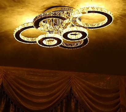 Crystal Round Lamps Ceiling Led Remote Control