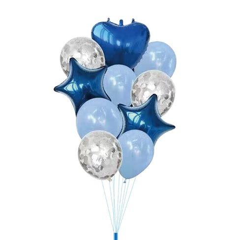 Dažādu balonu komplekts (zils) | VIPBALLITES.LV