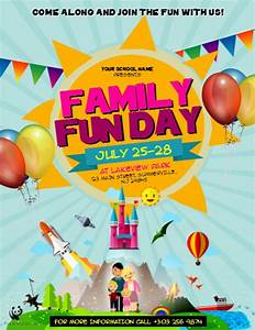 family fun day flyer template postermywall With fun day poster template